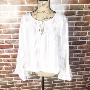 AFTER MARKET Blush/ White Top. NWT